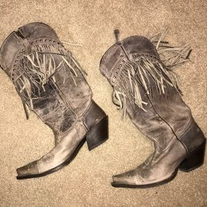 Cowgirl boots genuine leather
